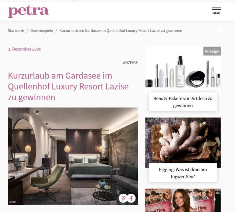 Gardasee-Kurzurlaub gewinnen: Petra Gewinnspiel - Seriöse