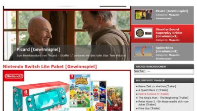 Gewinne eine Nintendo Switch Lite inkl. 3 Spiele: Kinonews Gewinnspiel