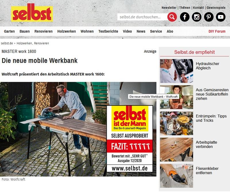 Gewinne eine wolfcraft Arbeitsbank selbst.de Gewinnspiel