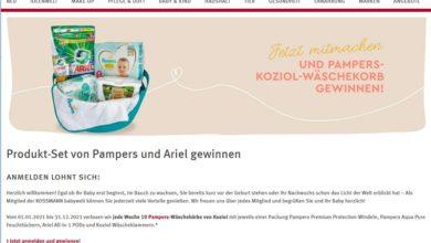 Gewinne jede Woche 1 von 10 Pampers-Wäschekörbe: Rossmann Gewinnspiel