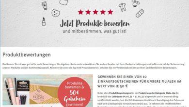 Für Produktbewertung Rossmann Einkaufsgutschein gewinnen - Rossmann Gewinnspiel