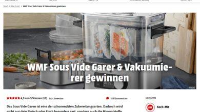 Jetzt WMF Sous Vide Garer & Vakuumierer gewinnen: MediaMarkt Gewinnspiel