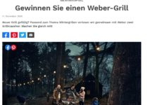 Jetzt Weber-Grill gewinnen: selbermachen Gewinnspiel