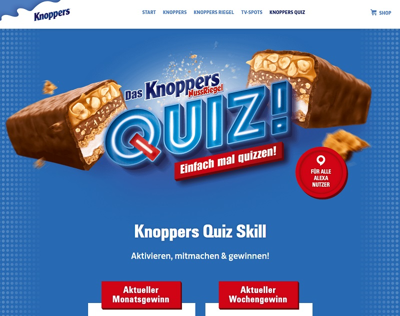 Knoppers und Sachpreise gewinnen Knoppers Gewinnspiel