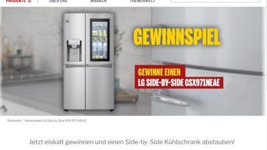 LG Side-by-Side Kühlschrank gewinnen MEDIMAX Gewinnspiel
