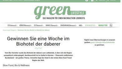 Österreich-Reise gewinnen: green Lifestyle Gewinnspiel
