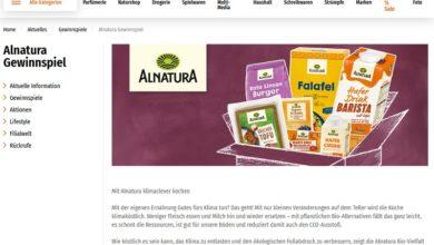 Pflanzliche Alnatura Bio-Pakete gewinnen Müller Gewinnspiel