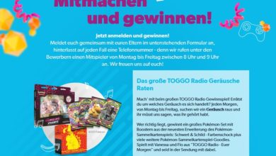 Pokémon-Set gewinnen TOGGO Gewinnspiel