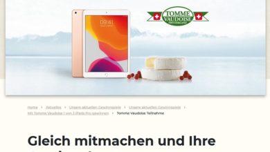 iPad Pro gewinnen: Schweizer Käse Gewinnspiel