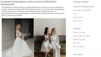 Dora von Bredenhaidt Hochzeitsoutfit gewinnen: braut.de Gewinnspiel