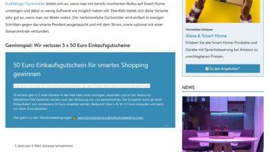 Einkaufsgutschein gewinnen: HOME & SMART Gewinnspiel