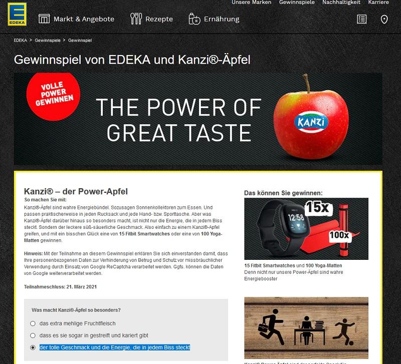 Fitbit Smartwatch gewinnen: EDEKA Gewinnspiel