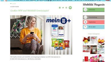Gewinne Wate Weight Watchers digital Weltbild Gewinnspiel
