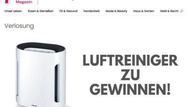 Gewinne einen Beurer Luftreiniger LR 210 plus Magazin Gewinnspiel