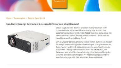 Gewinne einen Full HD Mini-Beamer: homeplaza.de Gewinnspiel