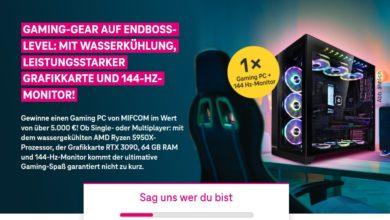 Gewinne einen Gaming PC: Deutsche Telekom Gewinnspiel