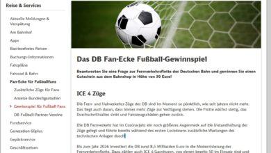 Gewinne einen Gutschein: Deutsche Bahn Gewinnspiel