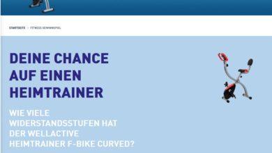 Heimtrainer F-Bike Curved gewinnen: ALDI Nord Gewinnspiel