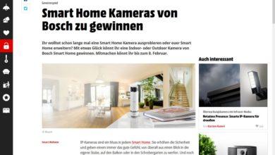 Jetzt Bosch Smart Home Kamera gewinnen – MediaMarkt Gewinnspiel