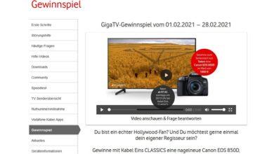 Jetzt Canon EOS 850D Kamera gewinnen – Vodafone Gewinnspiel