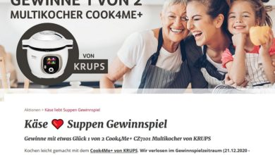 Jetzt KRUPS COOK4ME+ gewinnen – ich liebe Käse Gewinnspiel