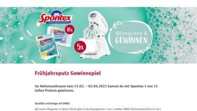 Jetzt SMEG Küchenmaschine oder Spontex Produktpaket gewinnen – Rossmann Gewinnspiel