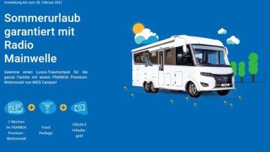 Jetzt Wohnmobil Urlaub gewinnen – Radio Mainwelle Gewinnspiel