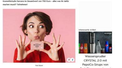 Senzera Beauty-Jahresabo gewinnen: Jolie Gewinnspiel
