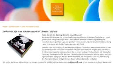 Sony Playstation Classic gewinnen homeplaza.de Gewinnspiel