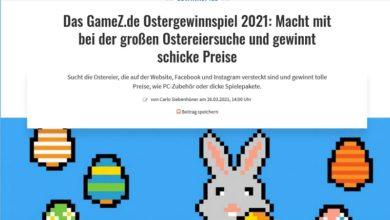 GameZ.de Ostergewinnspiel 2021