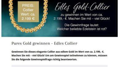 Gewinne ein Gold-Collier: DIEMER Gewinnspiel