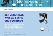 Gewinne tolle Preise (z. B. Saugroboter): ALDI Nord Ostergewinnspiel