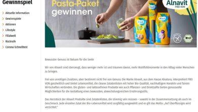 Glutenfreie Pasta-Pakete von Alnavit gewinnen Müller Gewinnspiel