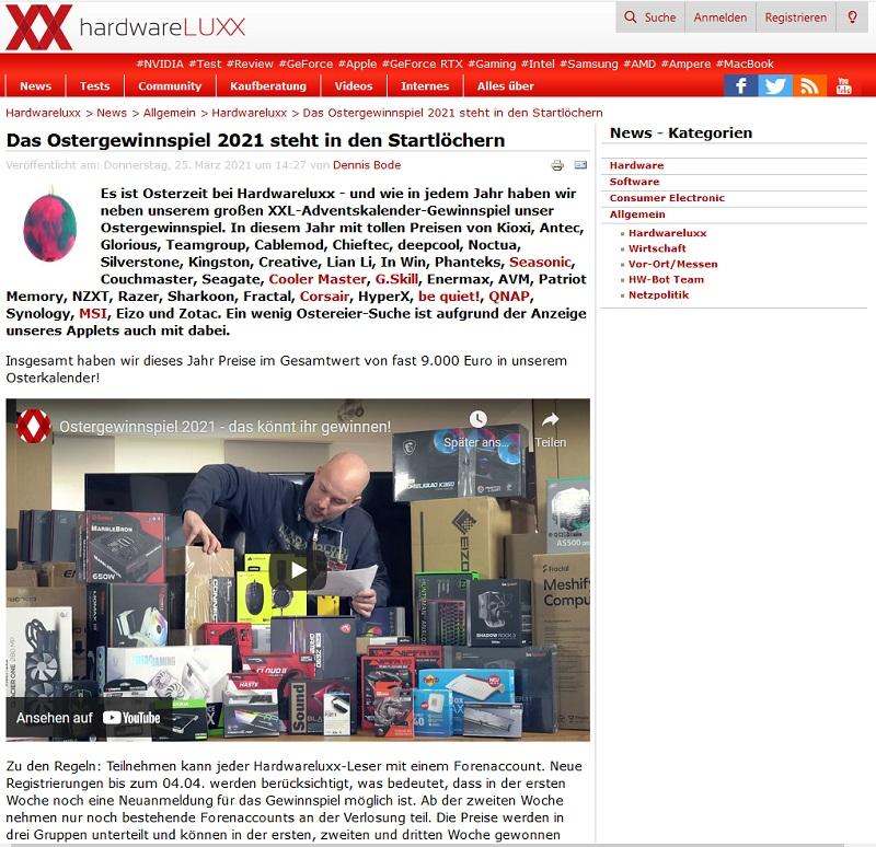 Hardwareluxx Ostergewinnspiel 2021