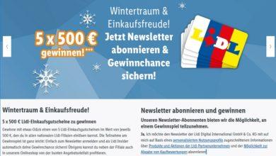 Jetzt 500 Euro Gutschein gewinnen – Lidl Gewinnspiel