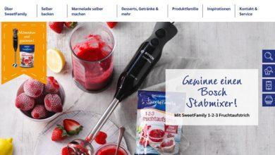 Jetzt Bosch ErgoMixx Stabmixer gewinnen – Nordzucker Sweet Family Gewinnspiel