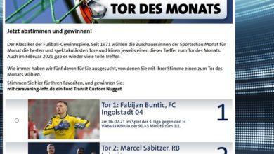 Jetzt Ford Transit Custom Nugget Wohnmobil gewinnen – ARD Sportschau Gewinnspiel