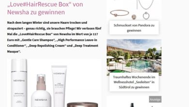 Love#HairRescue Box von Newsha gewinnen Petra Gewinnspiel