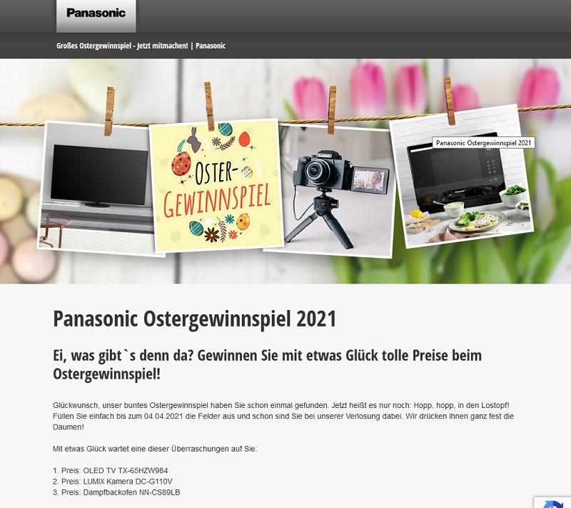 Panasonic Ostergewinnspiel 2021