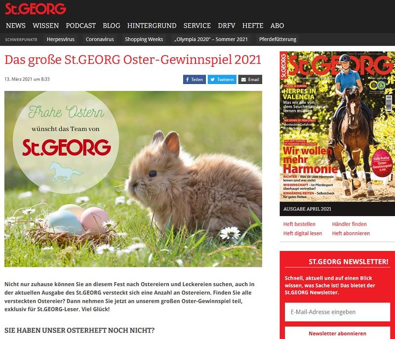 St.GEORG Oster-Gewinnspiel 2021
