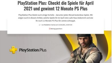Gewinne 1 Jahr PlayStation Plus gamez Gewinnspiel
