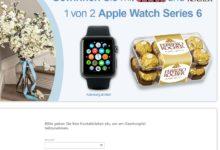 Gewinne eine Apple Watch Series 6 Ferrero Gewinnspiel