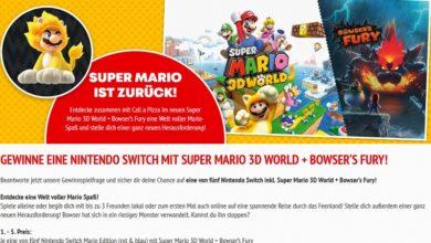 Gewinne eine Nintendo Switch mit Super Mario Call a Pizza Gewinnspiel