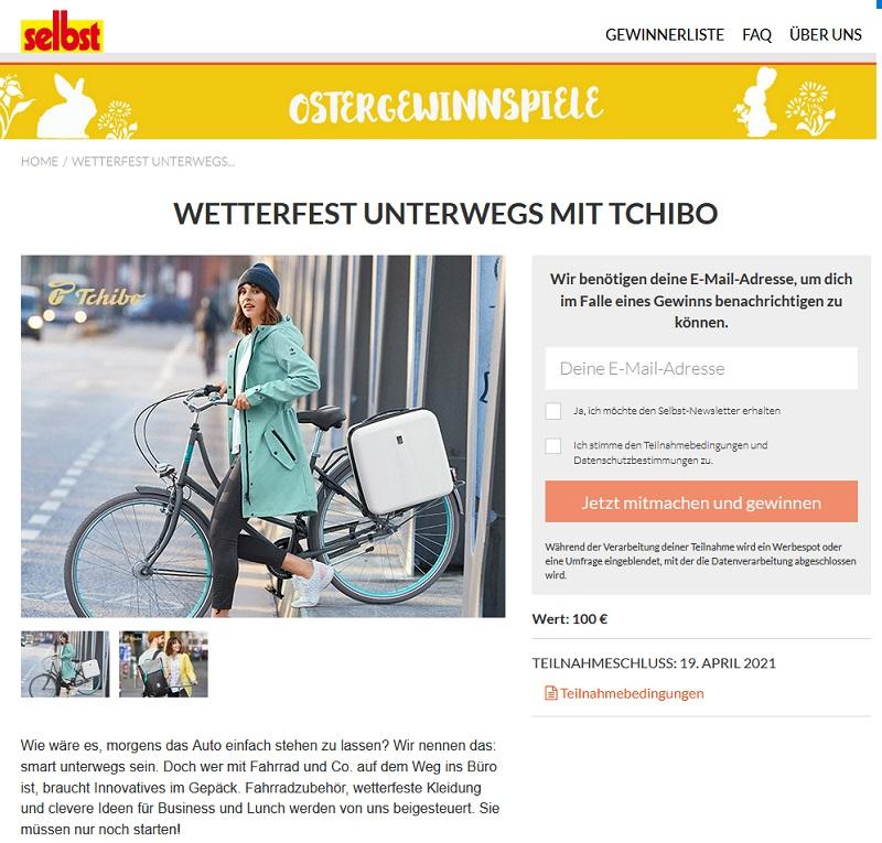 Gewinne einen Tchibo Gutschein selbst.de Gewinnspiel