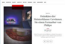 Jetzt Philips OLED+ 935 TV gewinnen VOGUE Gewinnspiel