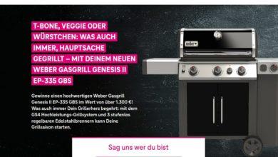 Jetzt Weber Gasgrill Genesis II EP-335 GBS gewinnen – Deutsche Telekom Gewinnspiel