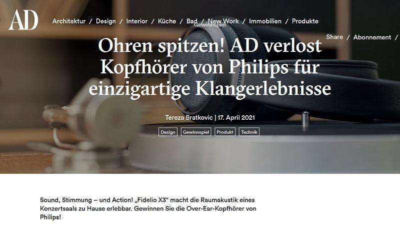 Philips-Kopfhörer Fidelio X3 gewinnen AD-Magazin Gewinnspiel