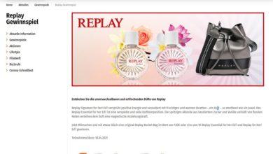 Replay Signature gewinnen Müller Gewinnspiel