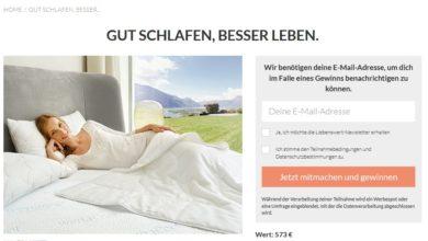 wenaCel sensitive® comfort Bettset gewinnen Liebenswert Magazin Gewinnspiel