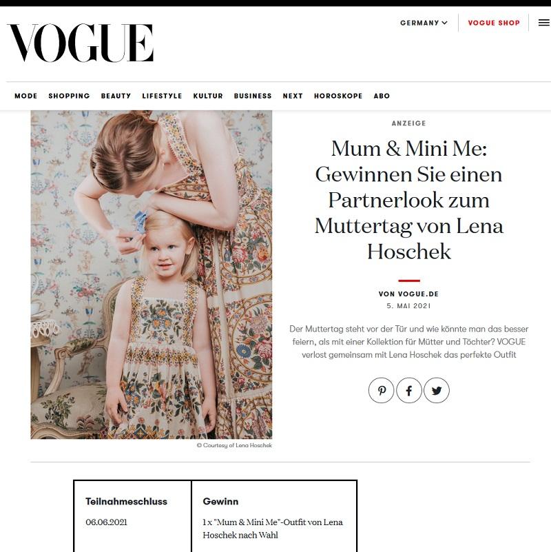 Gewinne Mutter-Tochter-Partnerlook VOGUE Gewinnspiel